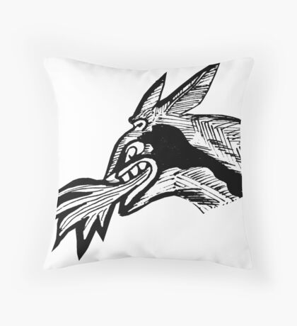 Fiery devil Throw Pillow