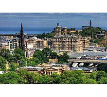 The East End of Edinburgh from the Castle Photographic Print
