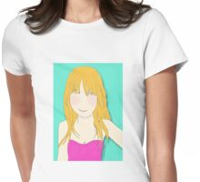 Daisy In Pink Womens Fitted T-Shirt