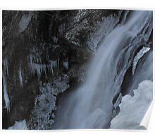 Winter Waterfall Detail Poster