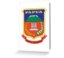 Coat of Arms of Papua Greeting Card