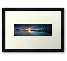 Motuotau Daybreak inkblot Framed Print