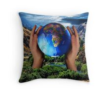 THE EARTH IS CRYING OUT..CAN YOU FEEL IT? DO U SEE IT? CAN MAN REPAIR WHAT MAN HAS DESTROYED?  Throw Pillow