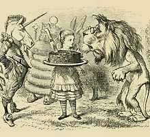 Through the Looking Glass Lewis Carroll art John Tenniel 1872 0172 Lion and Unicorn by wetdryvac