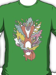 Abstract Fox T-Shirt