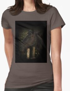 Midnight Beauty-Black Stallion Horse Womens Fitted T-Shirt