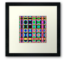 Colorful Psychedelic Abstract Pattern Framed Print