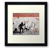 The money trap.. Framed Print