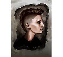 Taylor - portrait in profile Photographic Print