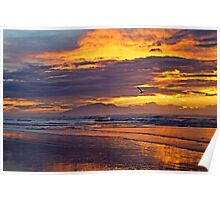 Surfing the Fiery Sky Poster