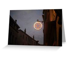 Farmacia Del Notte Greeting Card
