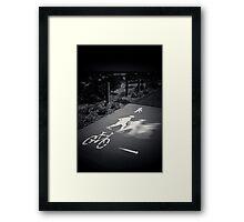 Signage Framed Print