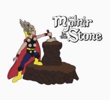 Mjolnir in the Stone (Comic Helmet Version) Kids Clothes