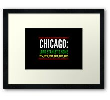 Chicago: Lord Stanley's Home (Striped) Framed Print