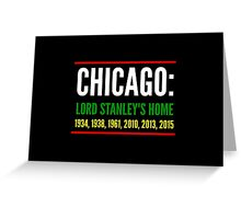 Chicago: Lord Stanley's Home (Striped) Greeting Card