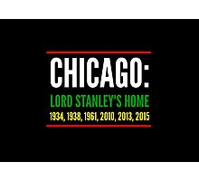 Chicago: Lord Stanley's Home (Striped) Photographic Print