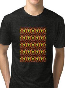 Retro curls - orange Tri-blend T-Shirt