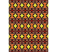 Retro curls - orange Photographic Print