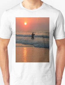 #411   Surf Fishing At Sunrise T-Shirt