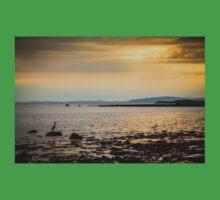Heron on the Beach at Sunset Baby Tee