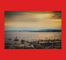 Heron on the Beach at Sunset Kids Tee