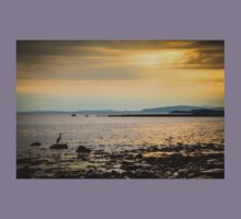 Heron on the Beach at Sunset Kids Clothes