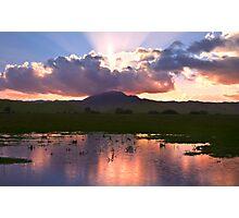 Sunburst over Mount Diablo Photographic Print