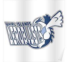 Whirl Islands Aeroblasts: Lugia Sport Logo Poster