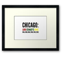 Chicago: Lord Stanley's Home (Years) Framed Print
