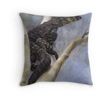 Lace Monitor Varanus varius Throw Pillow