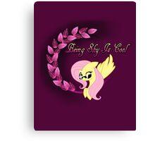 Cool Shy Fluttershy Canvas Print