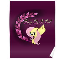Cool Shy Fluttershy Poster