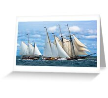 At The Starting Line Greeting Card