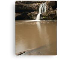Upper Falls and Branch - Hocking Hills Canvas Print