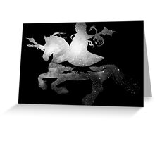 Daenerys riding Silver Greeting Card