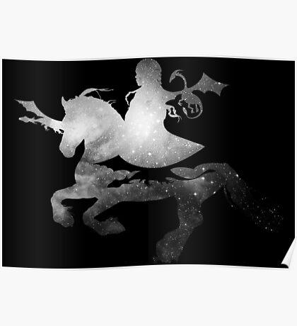 Daenerys riding Silver Poster
