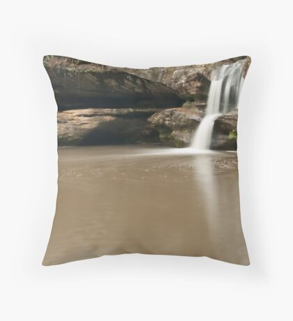 Swirling Waters, Upper Falls - Hocking Hills Throw Pillow