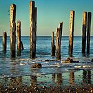 The Jetty Ruins at Port Willunga by Barb Leopold