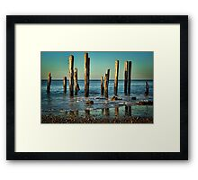 The Jetty Ruins at Port Willunga Framed Print