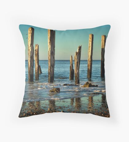 The Jetty Ruins at Port Willunga Throw Pillow