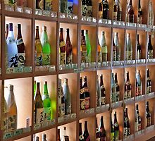 Shelves Of Sake And Sochu by phil decocco