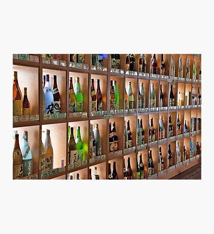 Shelves Of Sake And Sochu Photographic Print