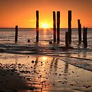 Sunset at Port Willunga by Barb Leopold