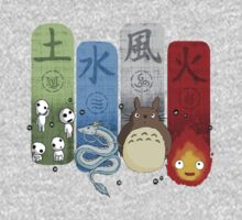 Ghibli Elemental Charms One Piece - Short Sleeve