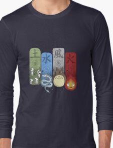 Ghibli Elemental Charms Long Sleeve T-Shirt
