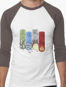 Ghibli Elemental Charms Men's Baseball ¾ T-Shirt