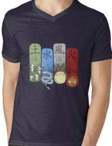 Ghibli Elemental Charms Mens V-Neck T-Shirt