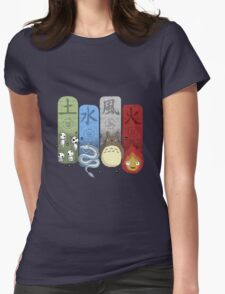 Ghibli Elemental Charms Womens Fitted T-Shirt