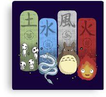 Ghibli Elemental Charms Canvas Print