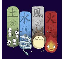 Ghibli Elemental Charms Photographic Print